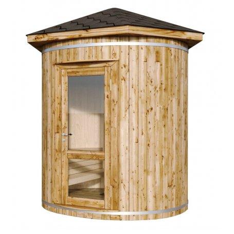 Tynnyrisauna Makalu on laadukas Löylyhuone, sisältää puulämmitteinen kiuas, Tynnyrisaunan koko Ø 240. Osta nut ja maksa kun saun