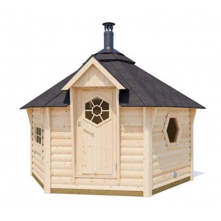 Tämän kotasaunan suunnittelun lähtökohtana oli saavuttaa aito saunan tunnelma. Kotasaunan tarkoitus on rentouttaa ihmismieli kai