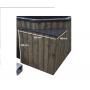 Laadukas Sähkökäyttöinen Kylpytynnyri setti, 1200 L, helppokäyttöinen ja varma. Turvallinen ja hyvä 6 hengelle