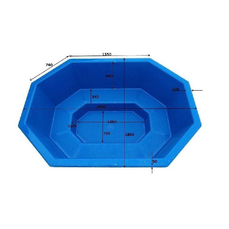 Lasikuituinen kylpytynnyri 1600 L itserakentajille