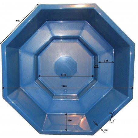 Kylpytynnyrin lasikuituinen tynnyriosa, Palju 2300 L koko perheelle