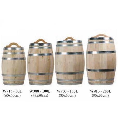 18 kpl uusi viinitynnyri, 50 litraa