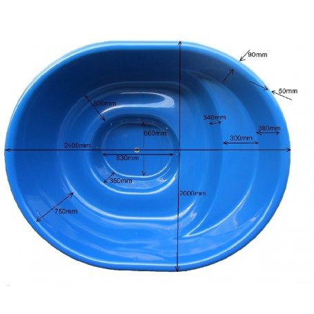 Sähkökäyttöinen Kylpytynnyri setti, 1700 L