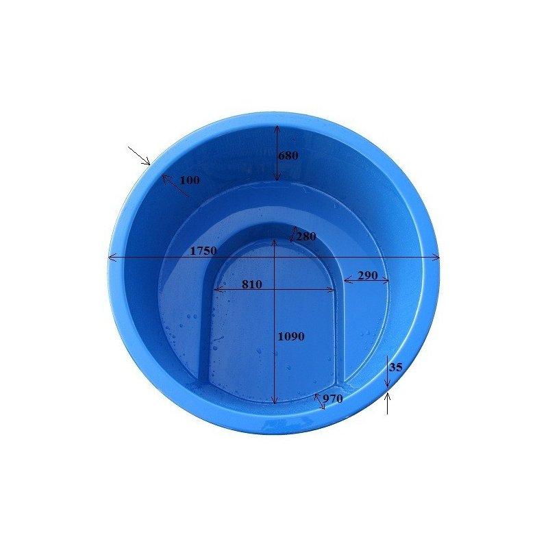 Lasikuituinen kylpytynnyri 1100 l itserakentajille, uppokaminalle