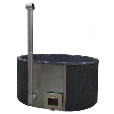 Kylpytynnyri 6-8 hengelle lasikuidusta, Ulkoinen kamina, Palju 1700 L