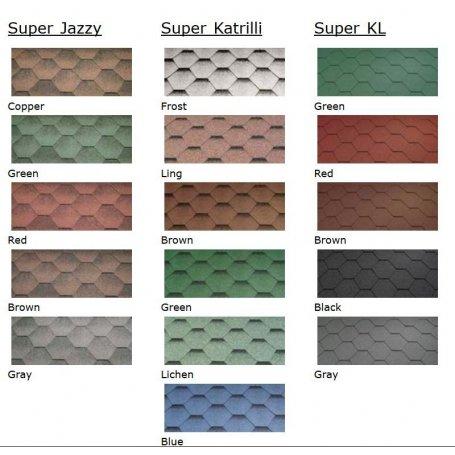Grillikota malleihin saat lisävarusteena eri väri vaihtoehtoja.  Valitse oheisesta listasta mieleinen väri.