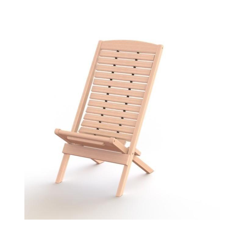 Wood W-100 saunatuoli, lev 50 cm