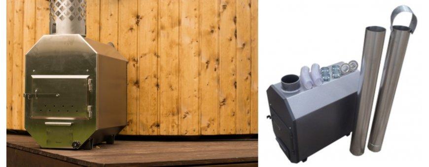Kylpytynnyrin kamiina on valmistettu merivettä kestävästä 3 mm:n alumiinista, jolla on erinomainen lämmönjohtavuus.