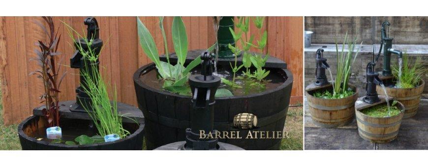 Tammitynnyrit soveltuvat moneen käyttöön, myös vesiaiheeksi. Meiltä myöskin suihkulähteeksi käytettäviä tynnyreitä