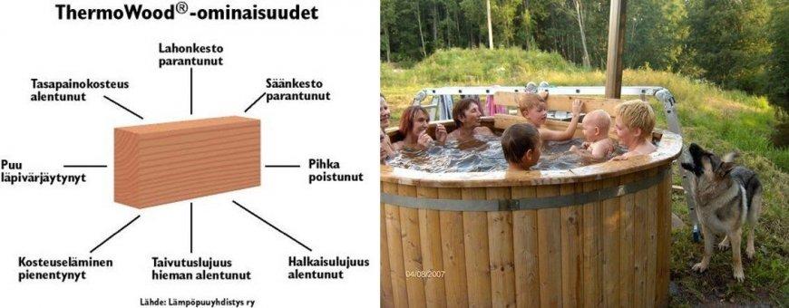 Puiset kylpytynnyrit ovat valmistettu laadukkaasta kuusesta tai lämpökäsiteltystä puusta. Edullisia ja perinteisiä kylpytynnyreitä, luonnonmateriaalista.